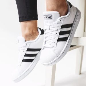 Adidas Grand Court white & black sneakers